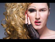 Portraits of Drag Queens in Half Drag