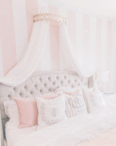 The Most Girly Pink Decor For A Feminine Home - J'adore Lexie Couture Room Design Bedroom, Room Ideas Bedroom, Dream Bedroom, Bedroom Decor, Bedroom Inspo, Bed Rooms, Girl Rooms, Bedroom Inspiration, Princess Bedrooms
