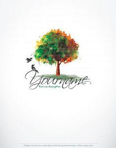 Premium Exclusive Design: Tree birds Logo + FREE Business Card + ...