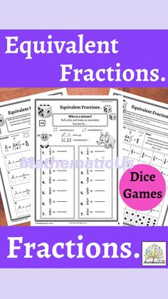 Math Resources, Math Activities, Early Elementary Resources, Fraction Games, Equivalent Fractions, Primary Maths, Australian Curriculum, Dice Games, Algebra