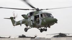 British Army Air Corps Westland Lynx AH.9A utility helicopter.