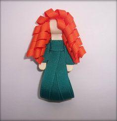 Disney Inspired Princess Merida Boutique Hair Clip