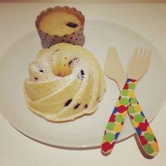 Minibunt cakes y vasitos de limon y arandanos, una combinacion perfecta
