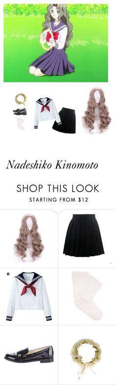 """Nadeshiko Kinomoto inspired seifuku"" by sahira-hadid ❤ liked on Polyvore featuring C.C, Darner and Chanel"