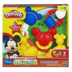 When Mickey Mouse and Play-Doh modeling compound get together, it's fun for everybody. Your little ones will love to cut, roll and mold fun shapes with the 5 tools in the Mouskatools set. These tools