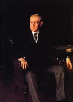 President Woodrow Wilson, 1917; painting by John Singer Sargent.