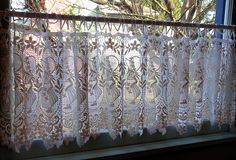 antique lace curtains | Dutch lace curtains in dining room window