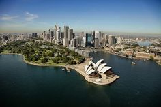 Sydney Opera House aerial 2010 by ImageFactory©, via Flickr Australia Immigration, Jorn Utzon, Visit Sydney, Design Competitions, Sydney Australia, Aerial View, The Good Place, Places To Go, Explore