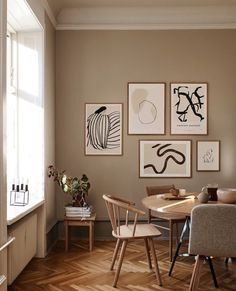 Beige toned home with a stunning 5 frame Art wall featuring ⁠⁠YOU by Sofia Lind⁠PAIRS by Anna Johansson⁠ EASTEN SONNET by By Garmi⁠ VOYAGE by Anna Johansson⁠ CALM by Lucrecia Rey Caro. All prints are available from Copenhagen based The Poster Club! #theposterclub #artwall #posterwall #gallerywall #artprints #artposter #livingwithart #artonthewall #posters Graphic Art Prints, Fine Art Prints, Scandinavian Style, Scandinavian Wall Decor, Scandinavian Interior Living Room, Hallway Walls, Hallway Wall Colors, Beige Walls, Beige Room