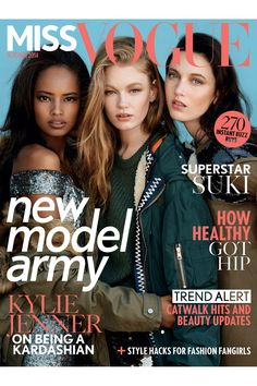 Inside Miss Vogue October 2014 - Matilda Lowther Hollie May Saker Malaika Firth (Vogue.com UK)