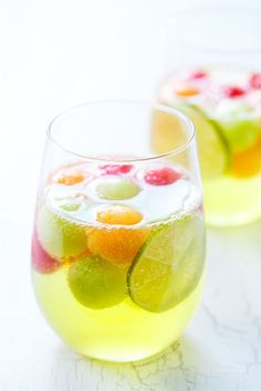 Hawaiian Wine Coolers with Frozen Pineapple Slices | Drinks ...