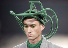 Walter_van_Beirendonck.  (For the occasion when a complete cowboy hat is a bit over the top?)  see cunda