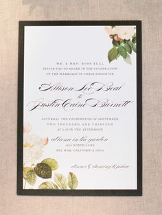 I love this so much, I might actually use dried flowers and leaves on my own wedding invitations :)