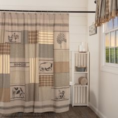 15 best country bathroom decor images fabric shower curtains rh pinterest com