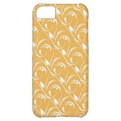 Floral Design On Beeswax Orange Yellow Background iPhone 5C Cover