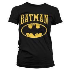 Batman Logo Vintage Koszulka Damska