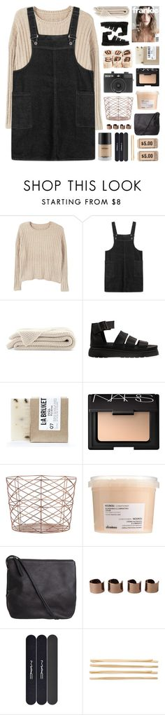 """""""~love me a little. i adore you"""" by emmas-fashion-diary ❤ liked on Polyvore featuring MANGO, Dr. Martens, L:A Bruket, NARS Cosmetics, Holga, Bloomingville, Davines, Pieces, Maison Margiela and MAC Cosmetics"""