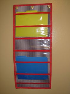 hanging file organizer by allcanlearn on etsy