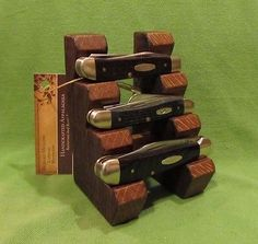 Custom Wood Knife Display Stand For Case Xx Schrade Buck Or Most Pocket  Knives