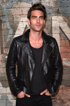 Jon Kortajarena Attends Chanel Dinner in All Black. October 2014.