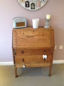 Writing Bureau / Desk English Oak Shabby Chic Could Poss Deliver For Small Cost