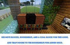 minecraft tv! check out craftyminecraft.com for more furniture ideas and building ideas.