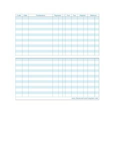 A simple (and free) checkbook register for Excel. | Money ...