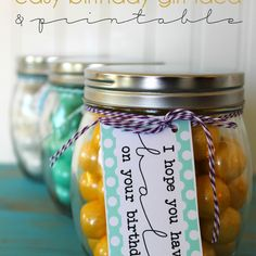 Easy DIY Birthday Gift Idea & Printable
