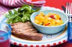 Honey and soy-glazed tuna