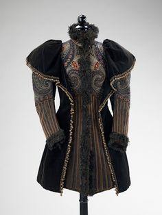 An amazingly embroidered evening jacket from Pingat, 1893.