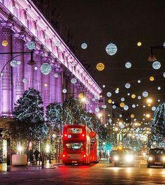 Selfridges on Oxford Street, London at Christmas