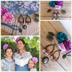 Hoop Earrings, Jewelry, Dance, Flamenco Dresses, Blue Lace, Christmas Tabletop, Doilies, Steel, Blue Nails