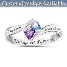 Love's Promise Engraved Birthstone Ring