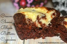 ULTIMATE CREAM CHEESE BLACK BOTTOM CUPCAKES - Hugs and Cookies XOXO
