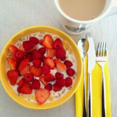 Muesli with berries. Yummy.