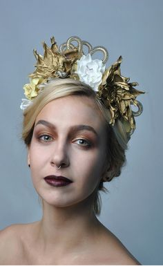 gold flowers crown wedding headpieces perfect for you