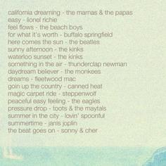 wanderlust.drifted: music monday: vintage summer playlist