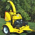 "PowerTek (7"") 28HP Hydro-Feed Tow-Behind Chipper Shredder. This is a terrific tool for small-to-medium landscape maintenance businesses, or folks with a lot of property to keep tidy.    The vacuum quickly & easily cleans leaves and twigs out of shrubbery, then shreds them into the 44 gallon container for convenient disposal or addition to the compost pile."