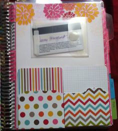 Full size laminated dashboard from Etsy with pockets for my Erin Condren Life Planner.