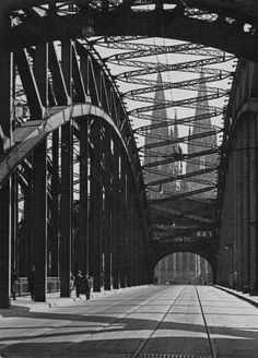 Köln, ca 1925, Hohenzollernbrücke