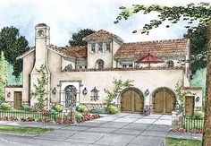 Spanish style homes – Mediterranean Home Decor Spanish Style Homes, Spanish Revival, Spanish House, Spanish Colonial, Mission Style Homes, Spanish Design, Mexican Hacienda, Hacienda Style, Mediterranean House Plans