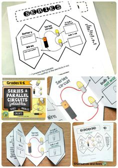 series and parallel circuits doodle science youtube education rh pinterest com