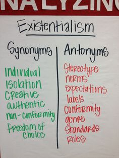 Essay on existentialism