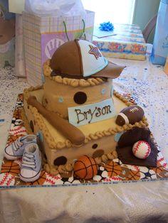Sports baby Shower Cake