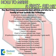 Secure yourself and your family...always keep a first-aid kit handy.