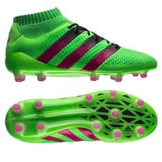 timeless design 32443 8ca4e adidas ACE 16.1 Primeknit FG AG Soccer Shoes (Solar Green Pink)    SoccerEvolution