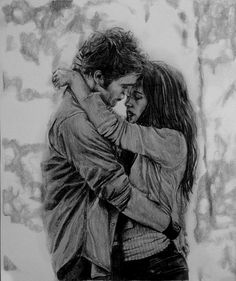 Bella and Edward drawing