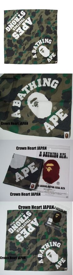6a87bbc1ac19 Scarves and Bandanas 169281  New A Bathing Ape 1St Camo Ats Bandana Green  Authentic ~ Bape Japan -  BUY IT NOW ONLY   59.99 on eBay!