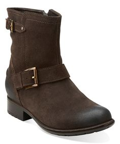 050d40d6289 Clarks Brown Distressed Plaza Float Leather Boot