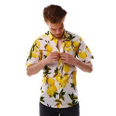 Limited edition shirt created by www.shirtwiseshop.com #limitededition #limitedserie #shirt #roundcollar #summer #lemons #citrus #print #prints #shirtwise #shirtwiseshop